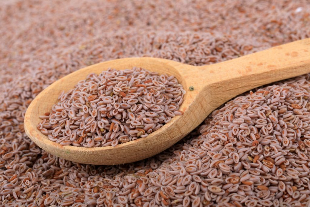 Psyllium seed application and effect