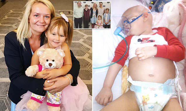 Family of a cancer-stricken girl are friends with her stem-cell donor
