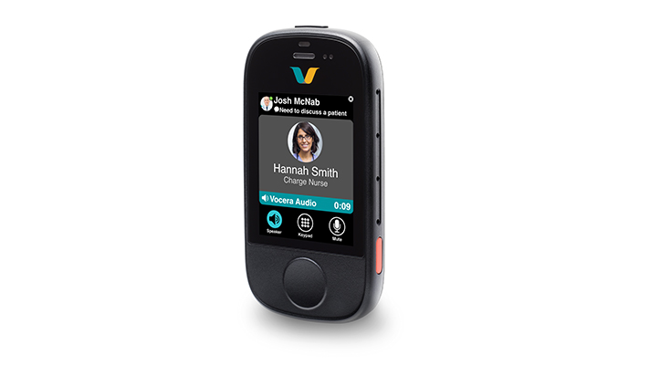 Vocera unveils Smartbadge combining mobile phone and clinical communications features