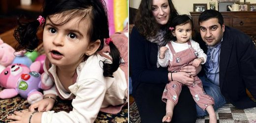 Toddler suffers with one-in-a-million paralysis condition with no cure