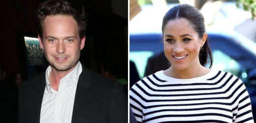 Patrick J. Adams Jokes About Playdates Between His, Duchess Meghan's Kids