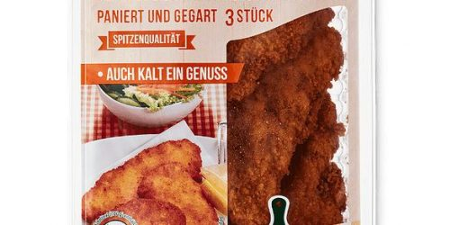 Risks of injury: current Aldi-recall due to glass shards in the chicken cutlets