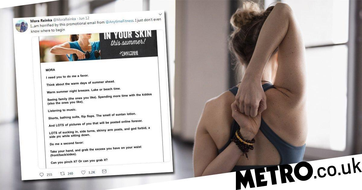 Gym slammed for emailing members asking if they could 'pinch their fat'
