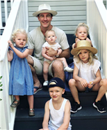 Gang's All Here! James Van Der Beek Poses with All Five of His Children for Father's Day