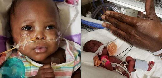 Baby girl who weighed less than 1lb goes home after 5 months in NICU
