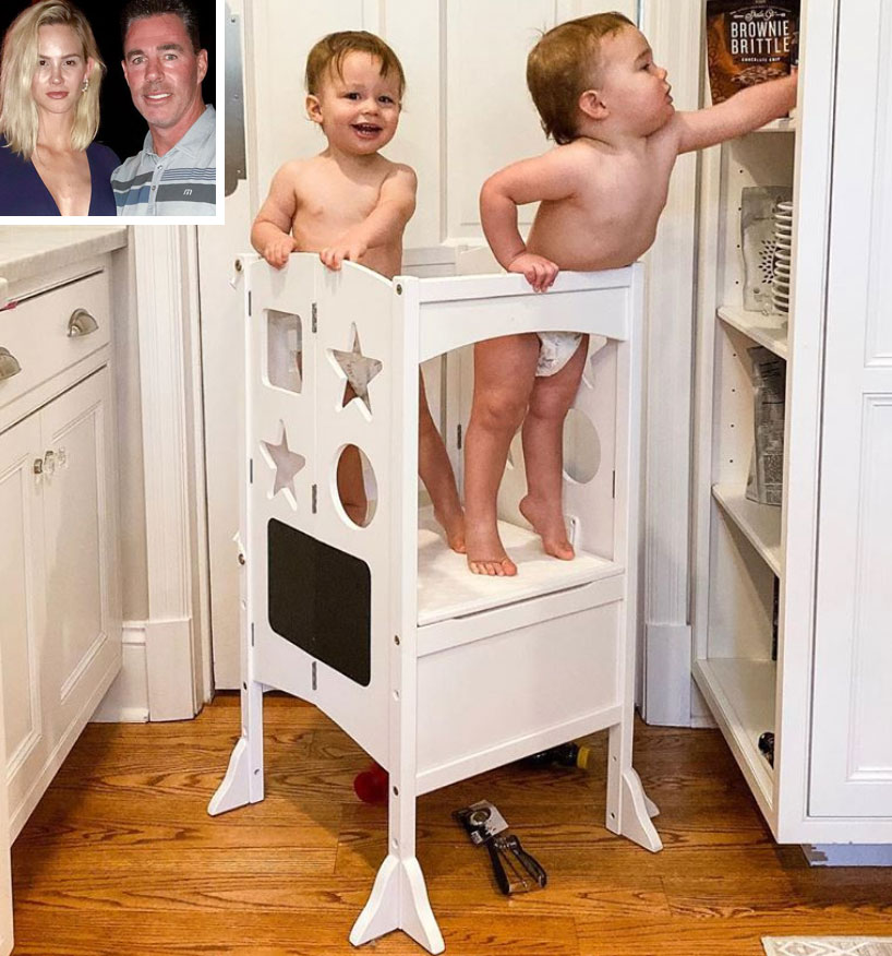 Meghan King Edmonds' Nanny 'Likes' Photo of RHOC Alum's Twins as Jim Bonds with Kids in New Home