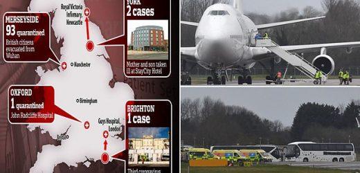 Evacuation flight carrying Brits home from coronavirus-hit Wuhan lands