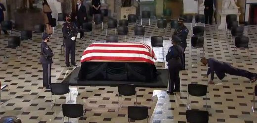 Ruth Bader Ginsburg's Trainer of 20 Years Honored Her with Push-Ups Next to Her Casket