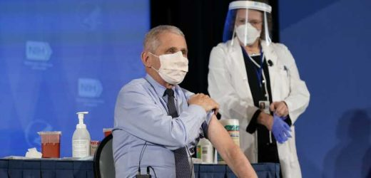Dr. Fauci Gives Health Update After Receiving COVID-19 Vaccine