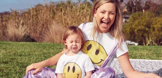 Kate Hudson Poses with Daughter Rani Rose, 2, for InStyle in Matching '90s Smiley-Face Shirts