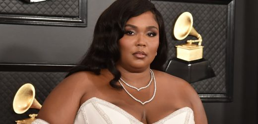 Lizzo's Stiletto-Shaped Jade Manicure Rolls Three Epic Nail-Art Trends Into One