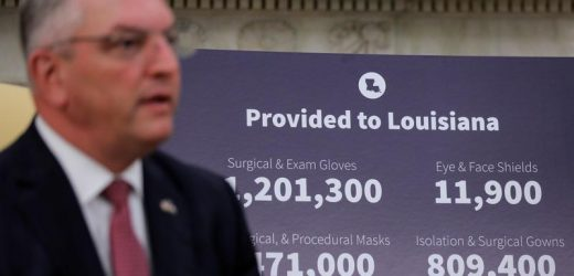 Louisiana governor lifts indoor mask mandate except for K-12 schools